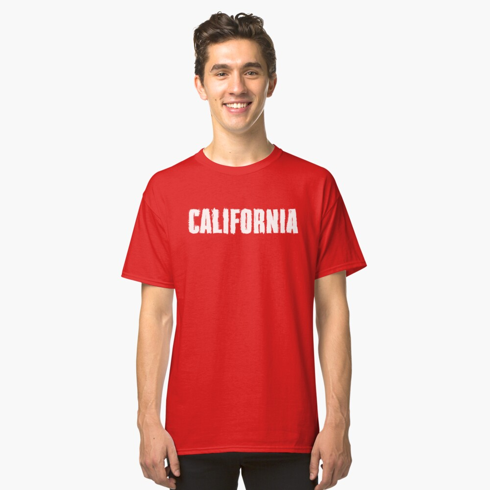 California Distressed Letters Classic T-Shirt