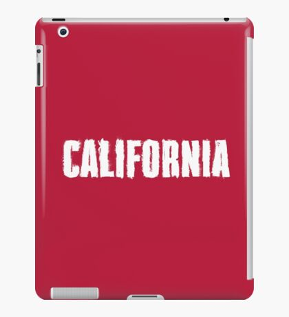 California Distressed Letters iPad Case/Skin