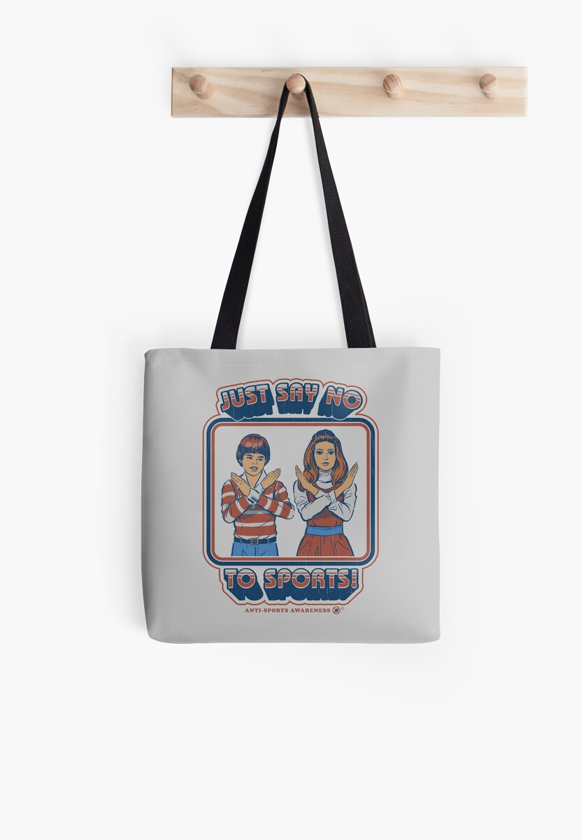 Say no to sports tote bags by steven rhodes redbubble say no to sports by steven rhodes publicscrutiny Choice Image