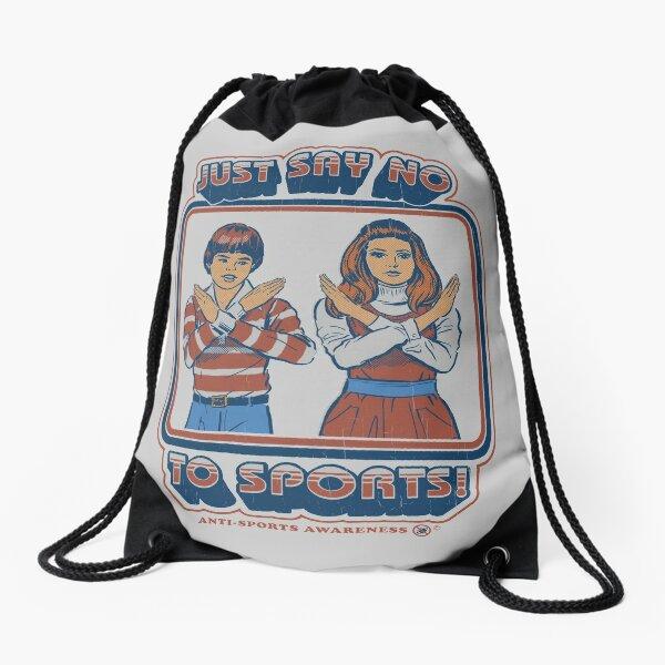 Say No to Sports Drawstring Bag