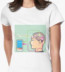 Brainwave monitor Women's Fitted T-Shirt