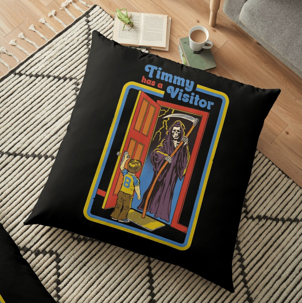 Timmy has a Visitor Floor Pillow