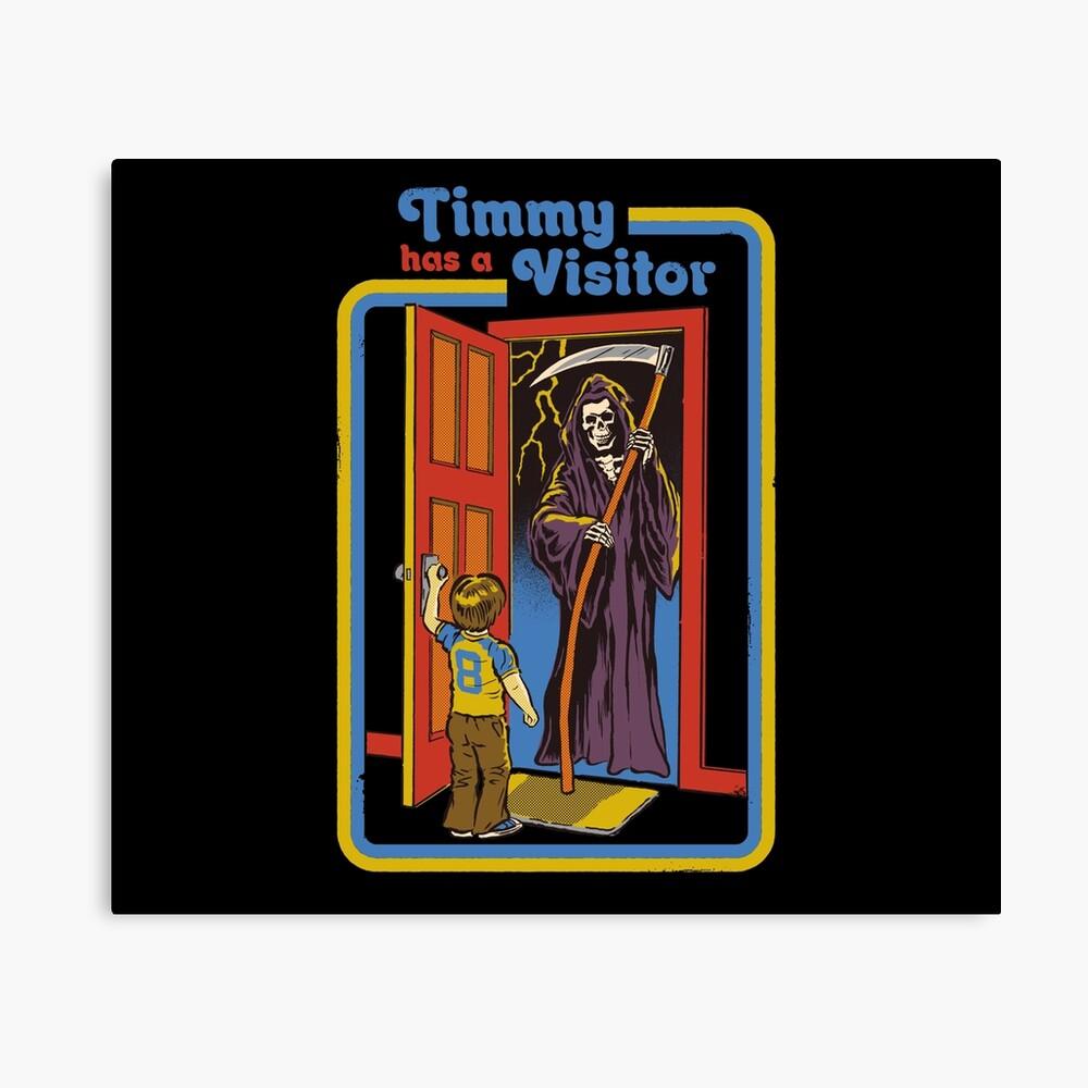 Timmy hat einen Besucher Leinwanddruck