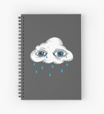 There's Something in the Clouds Spiral Notebook
