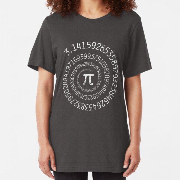 Spiral Pi Math  Slim Fit T-Shirt