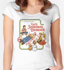 Let's Summon Demons Women's Fitted Scoop T-Shirt