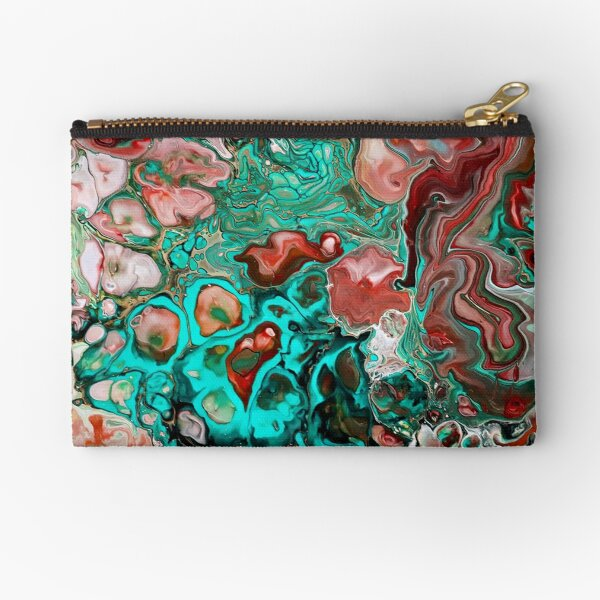 sacred heart (peach & turquoise version) Zipper Pouch