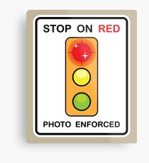 Stop on Red sign Metal Print