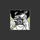 Vintage Diana Camera Woman Photographer by Framerkat