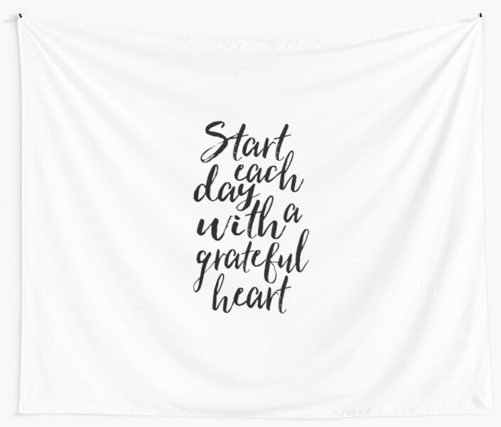 Start each day with a grateful heartmotivational posterinspirational quote wall art