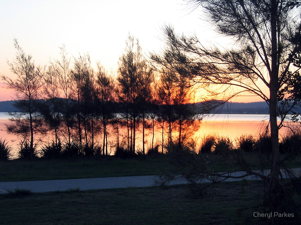 Sunset at Warners Bay by Cheryl Parkes