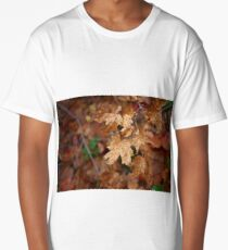 autumn leaves in the rain Long T-Shirt