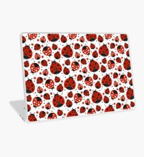 Ladybugs and Red Flowers Laptop Skin