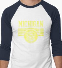 Darren Criss Fox Campaign: Michigan Wolverines Men's Baseball ¾ T-Shirt