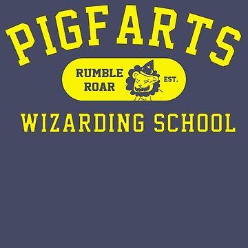 Starkid: Pigfarts wizarding school (yellow) by Piwoly