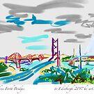 Three Bridges across the Forth to Edinburgh by Helen Imogen Field
