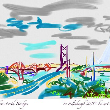 Three Bridges across the Forth to Edinburgh by imogenart
