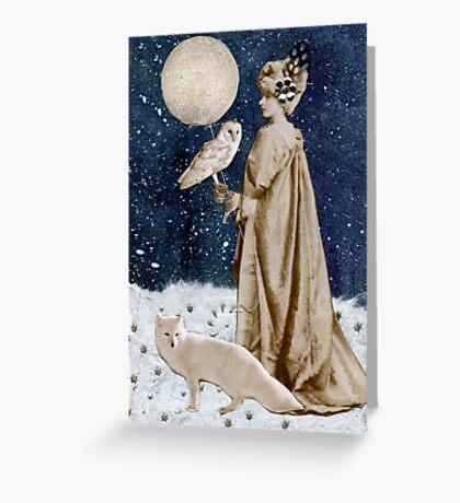 Wild Moon Goddess Greeting Card