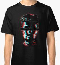 Anti Glitch Black Background Classic T-Shirt