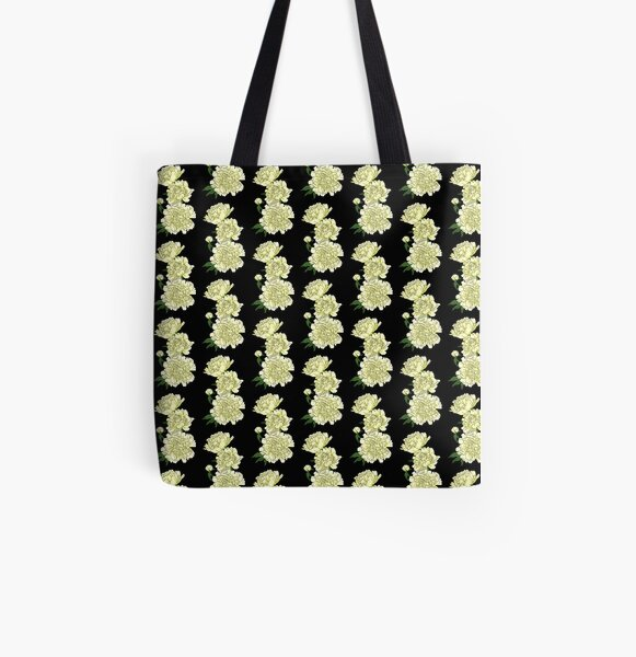 Yellow Carnations All Over Print Tote Bag