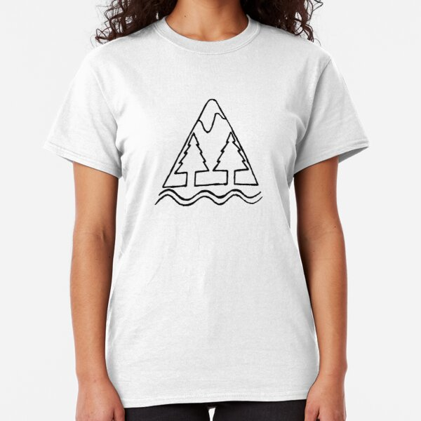 Mountain and Trees Classic T-Shirt