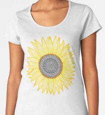 Golden Mandala Sunflower Women's Premium T-Shirt