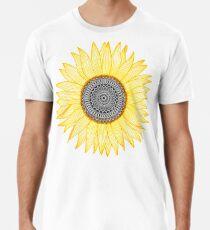 Goldene Mandala-Sonnenblume Männer Premium T-Shirts