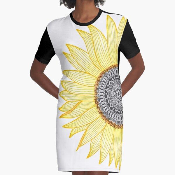 Golden Mandala Girasol Vestido camiseta