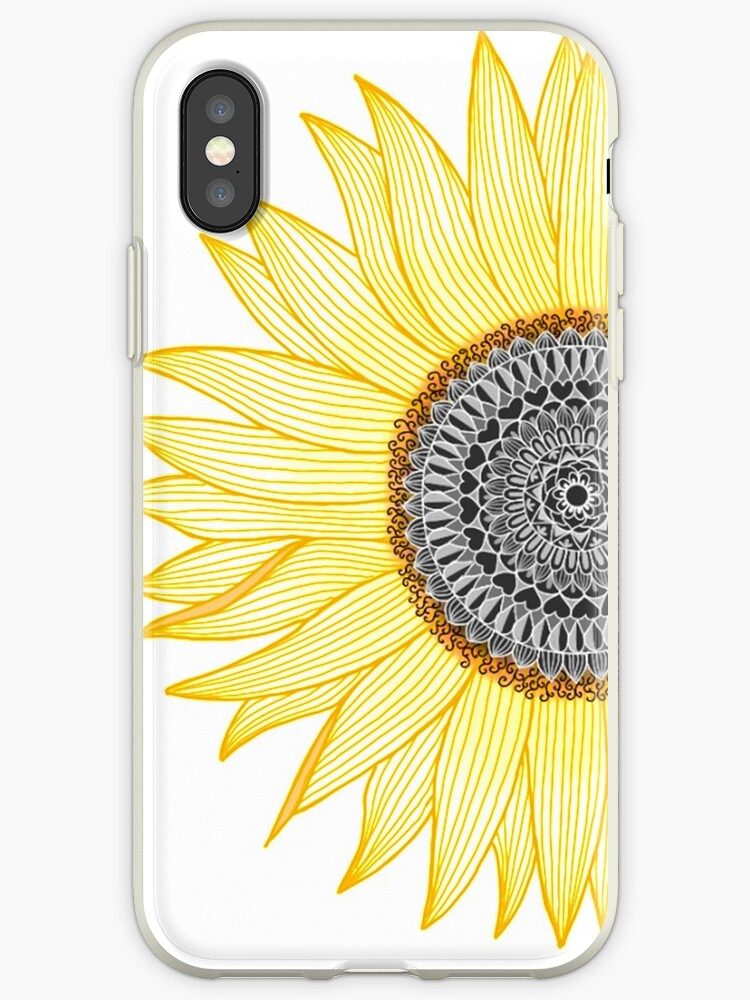 new product ac1c3 2eff3 'Golden Mandala Sunflower' iPhone Case by paviash