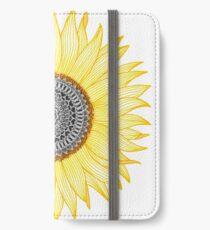 Goldene Mandala-Sonnenblume iPhone Flip-Case/Hülle/Klebefolie