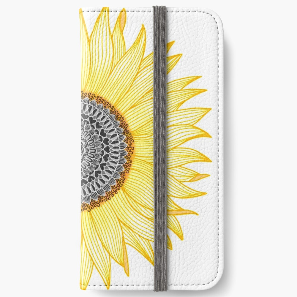 Golden Mandala Sunflower iPhone Wallet