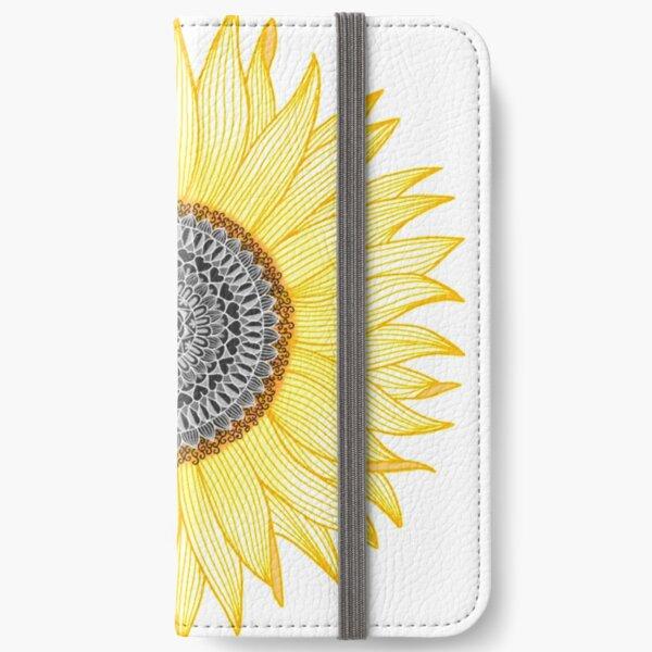Golden Mandala Sunflower iPhone Wallet