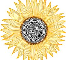 « Tournesol d'or Mandala » par paviash