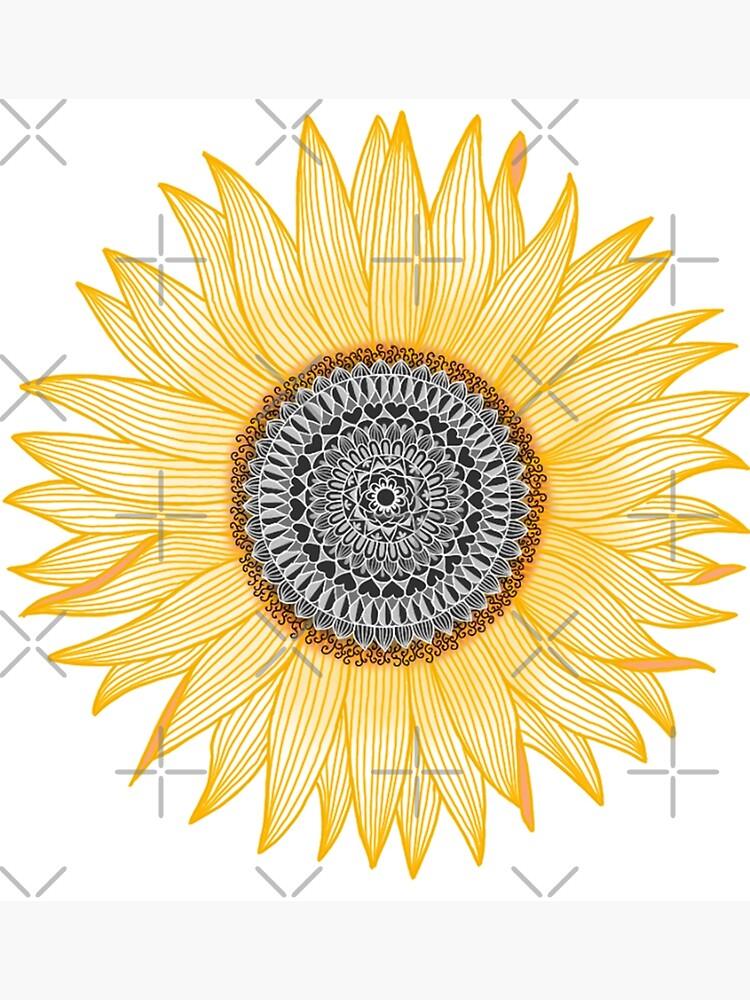 Golden Mandala Sunflower by paviash