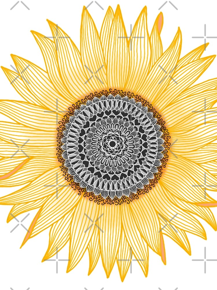 Golden Mandala Sunflower de paviash