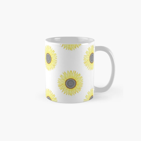 Golden Mandala Sunflower Classic Mug