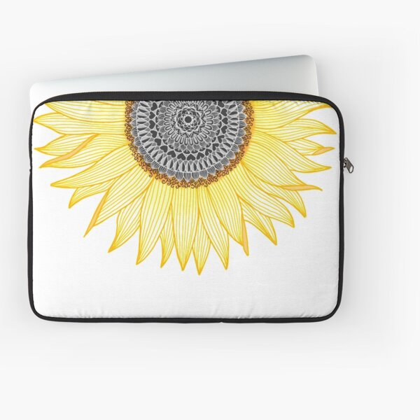 Golden Mandala Sunflower Laptop Sleeve