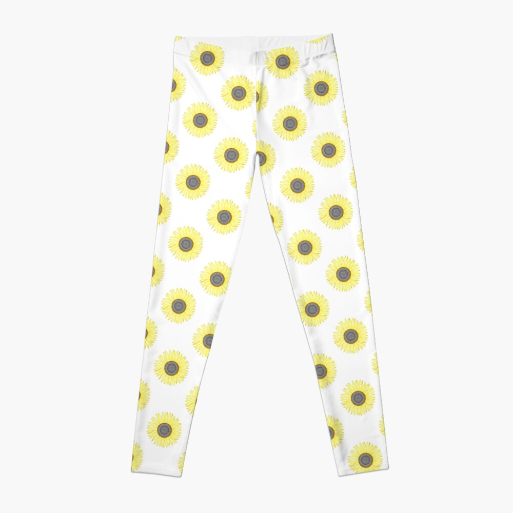 Golden Mandala Sunflower Leggings