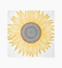 Golden Mandala Sunflower Scarf
