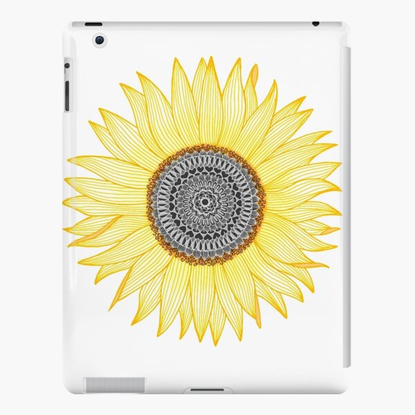 Golden Mandala Sunflower iPad Snap Case
