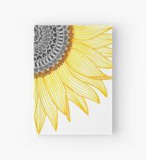 Goldene Mandala-Sonnenblume Notizbuch