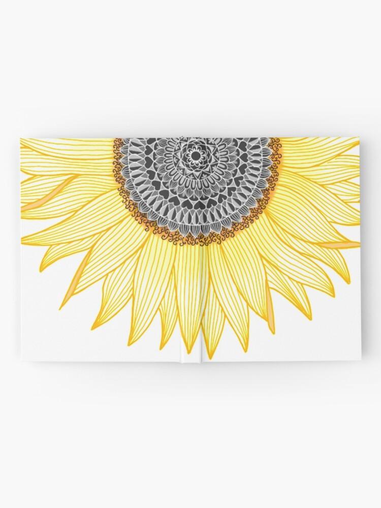 Alternate view of Golden Mandala Sunflower Hardcover Journal