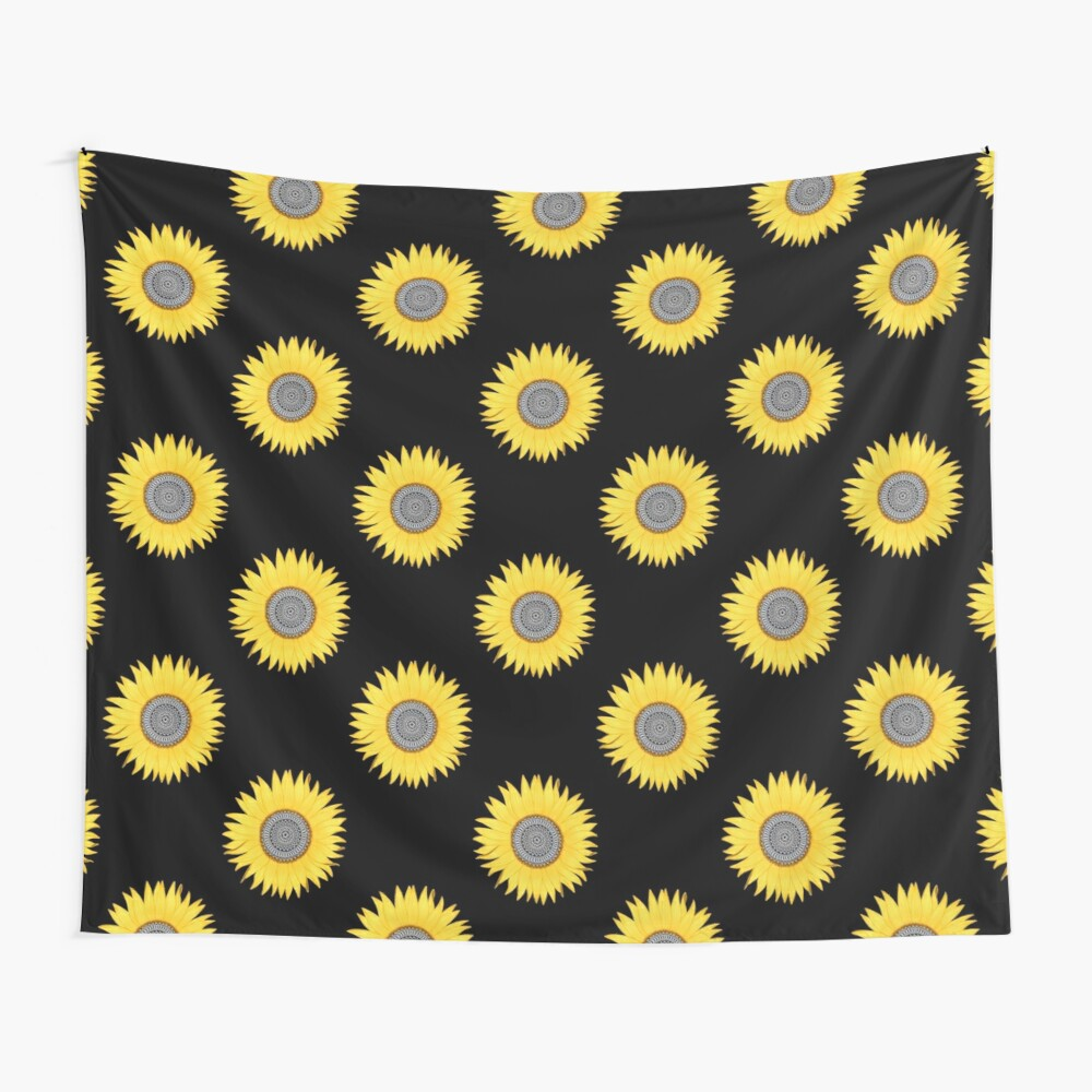Mandala Sunflower Wall Tapestry