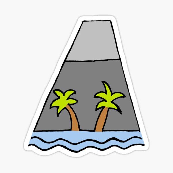 Volcano Sticker