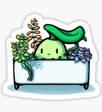 Chikorita & Succulents Sticker