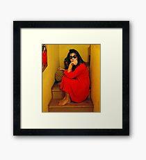 POP ELY...A PIEDI NUDI SULLE SCALE.. Framed Print