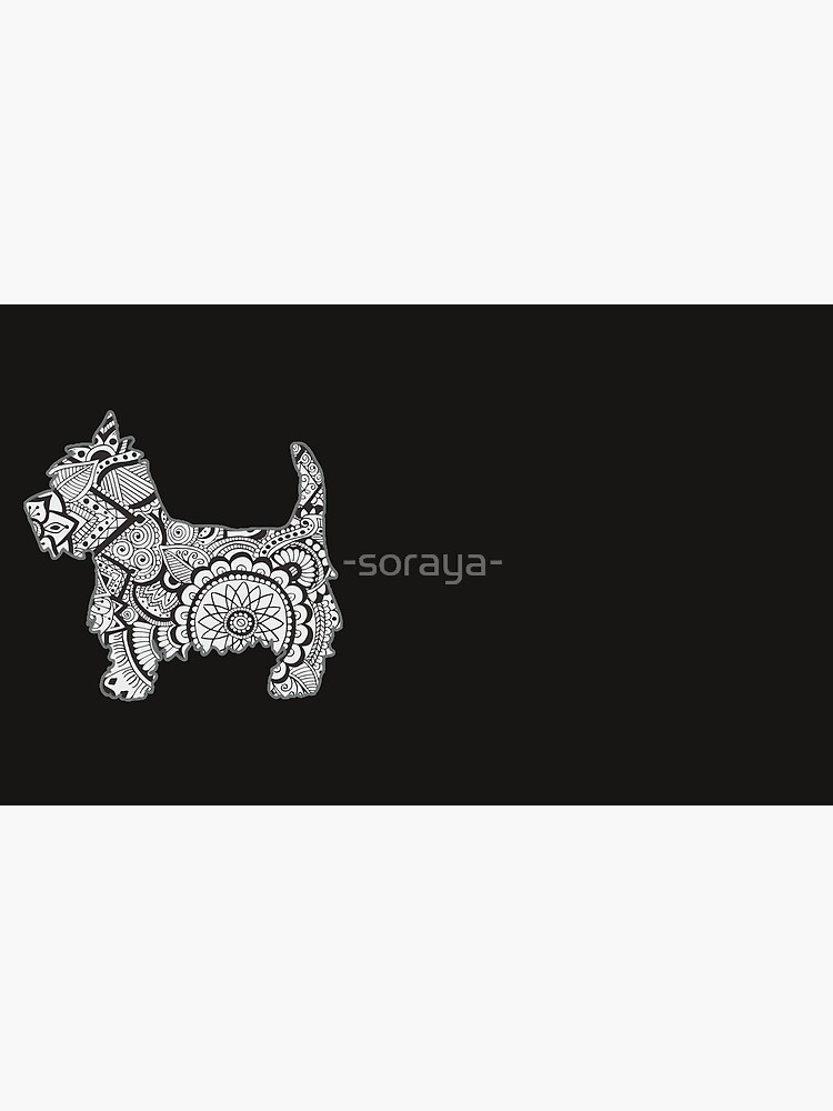 Westie black and white zentangle de -soraya-