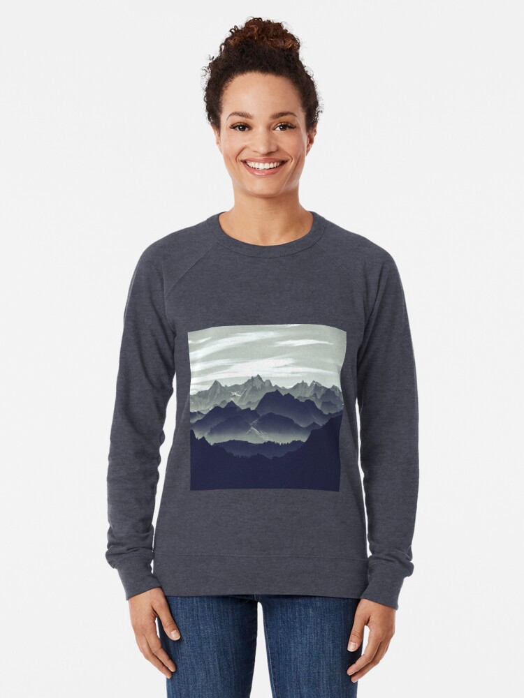 Alternate view of Mountains are calling for us Lightweight Sweatshirt
