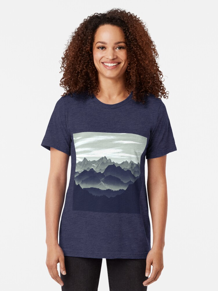 Alternate view of Mountains are calling for us Tri-blend T-Shirt