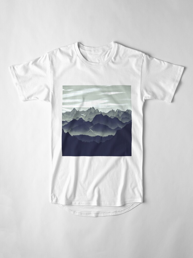 Alternate view of Mountains are calling for us Long T-Shirt